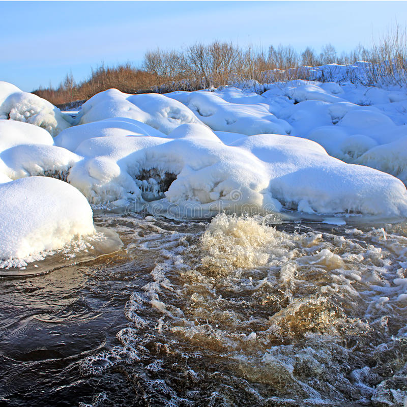 Download River flow stock image. Image of country, creek, frozen - 12617201