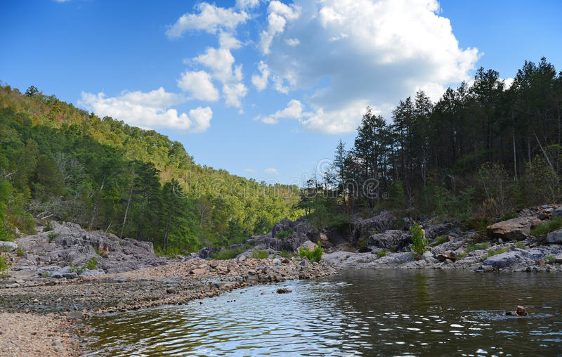 River Flowing During Sunny Afternoon Stock Images