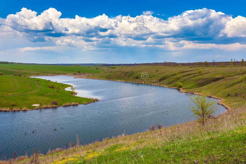 Green spring in Russia. royalty free stock photos
