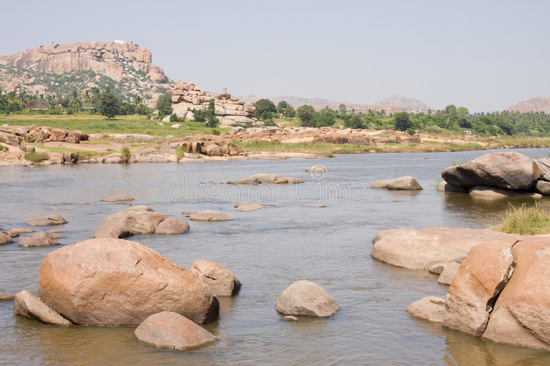 Download River full of big stones stock photo. Image of india, river - 7569122