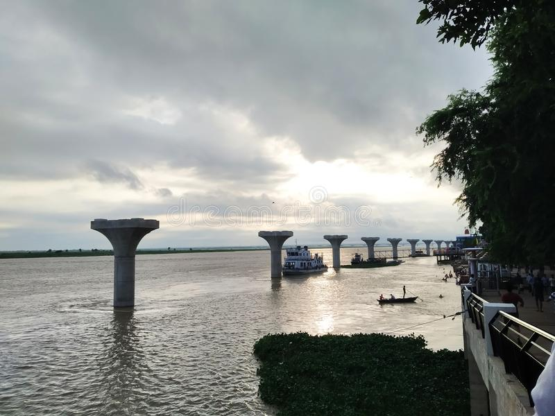River ganga  clicked by zahid ali stock image