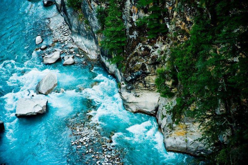 River Ganga in valley Himalayas mountains royalty free stock photos