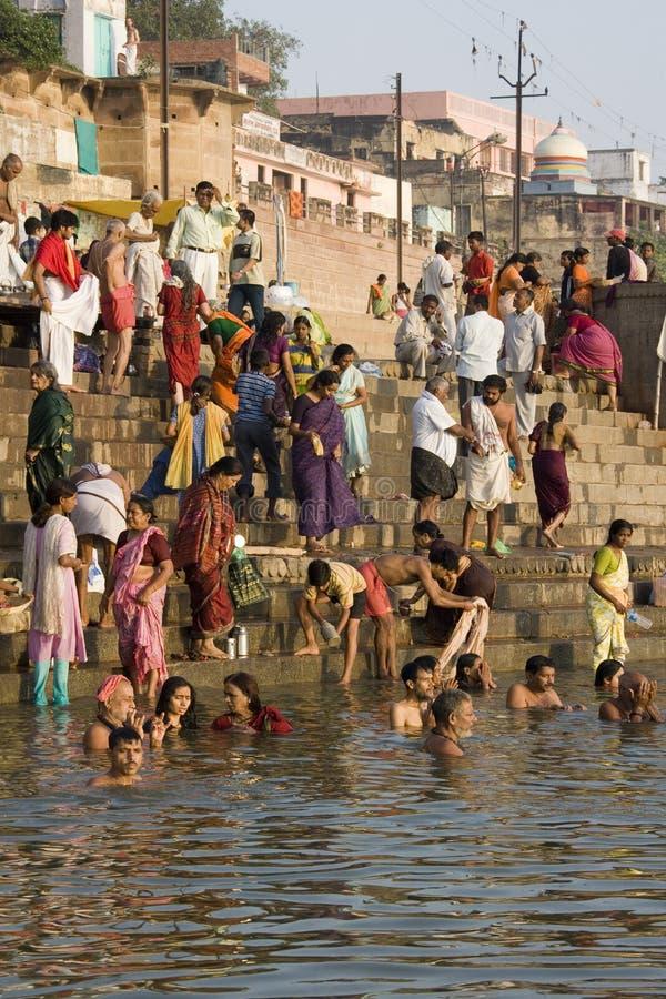 River Ganges in Varanasi - India stock image