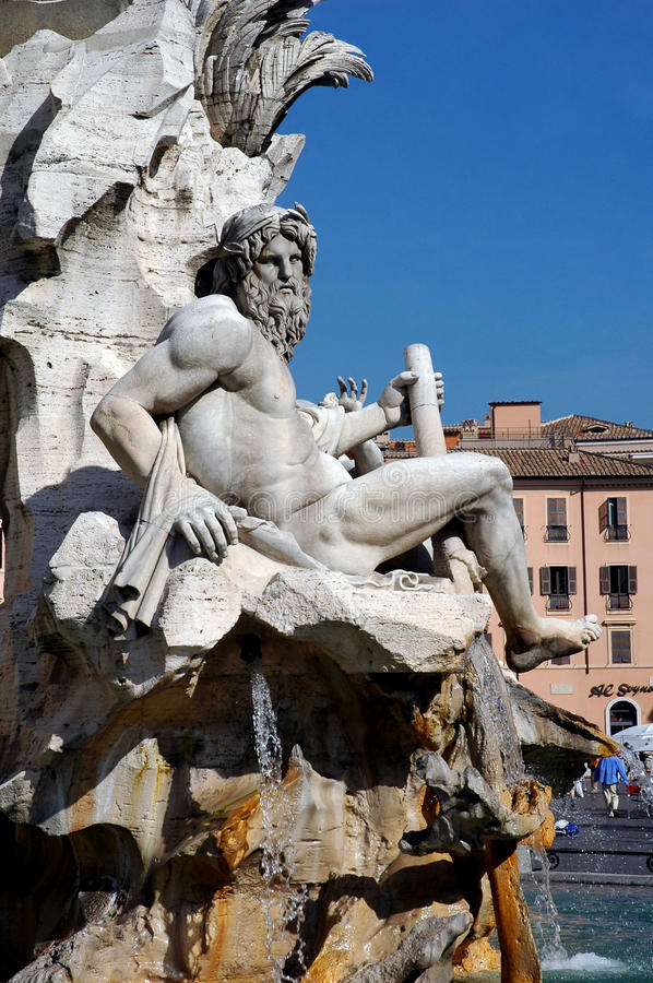 Download Rome, Navona Square, River God Ganges Sculpture Stock Photo - Image of artistic, modeling: 24424598