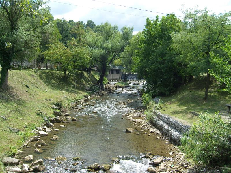 River Gradac Valjevo Serbia landscape in summer. Just nort of the city Valjevo in western Serbia lies anture reserve Gradac with all its beauty stock photography