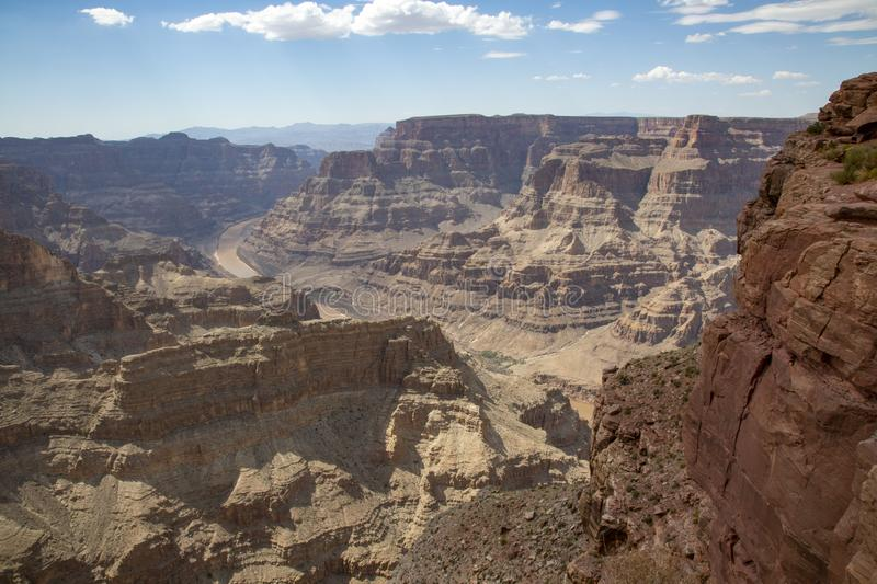 River Grand Canyon. Water from the Colorado River flows through Canyon of Grand Canyon royalty free stock photo
