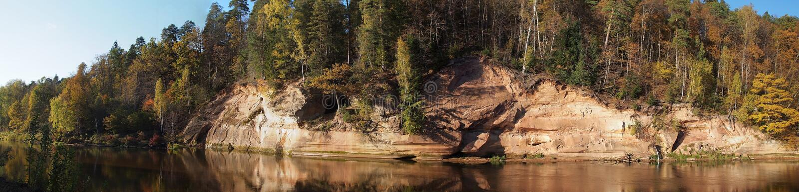 Cliff and River stock image