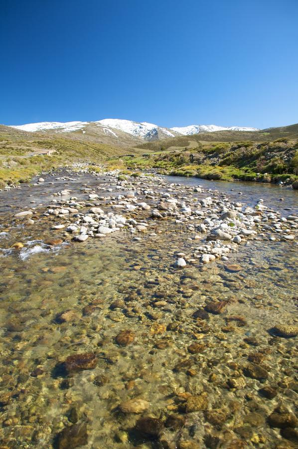 Download River At Gredos Snow Mountains Stock Image - Image: 11006491
