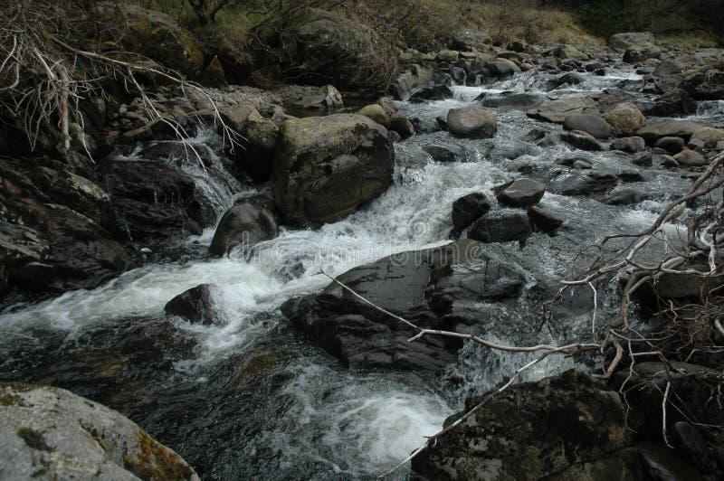 River. Harsh river in the Scottish highlands stock image