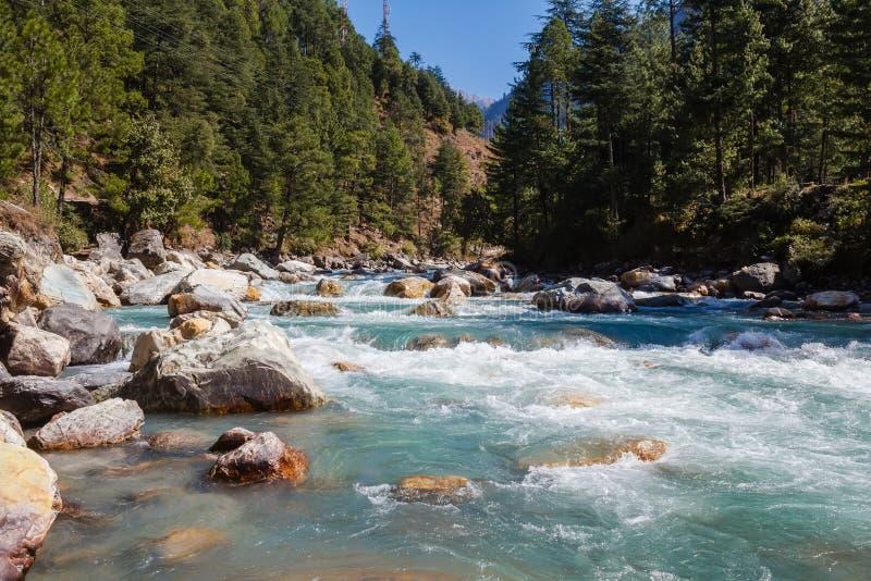 River in himalayan mountains royalty free stock photos