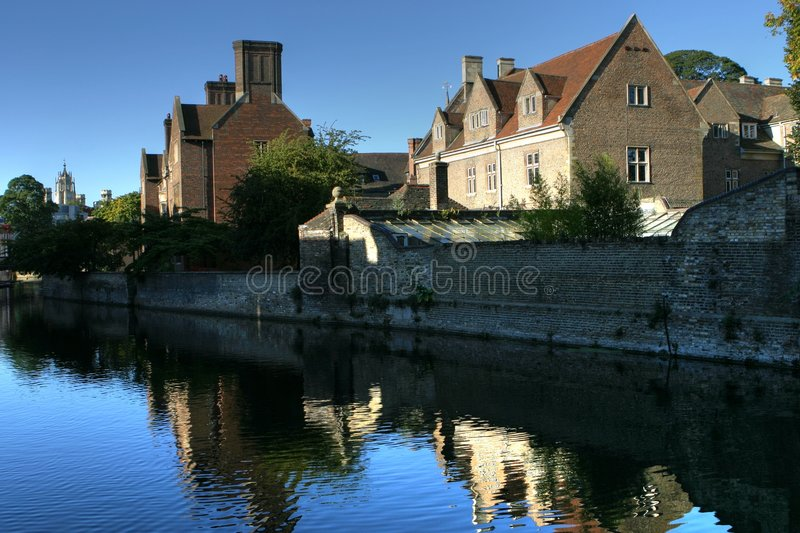 River Houses royalty free stock photos