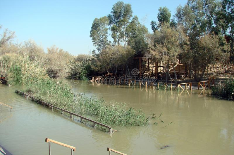 River Jordan Dead Sea. Israel. Panorama and landscapes of holy places, where Jesus taught people at one time. royalty free stock photo