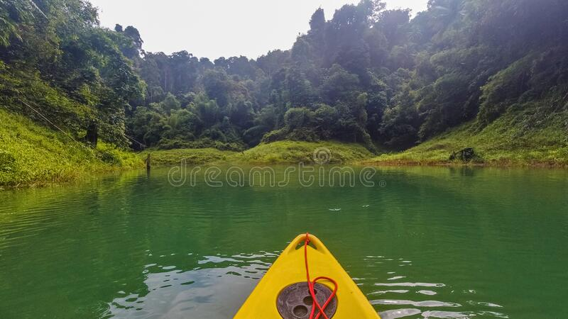 River kayak trip, Khao Sok National Park, Thailand, perfect place for holiday stock image