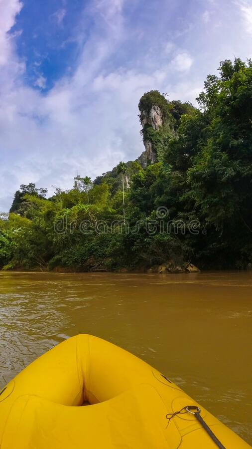 River kayak trip, Khao Sok National Park, Thailand, perfect place for holiday royalty free stock image
