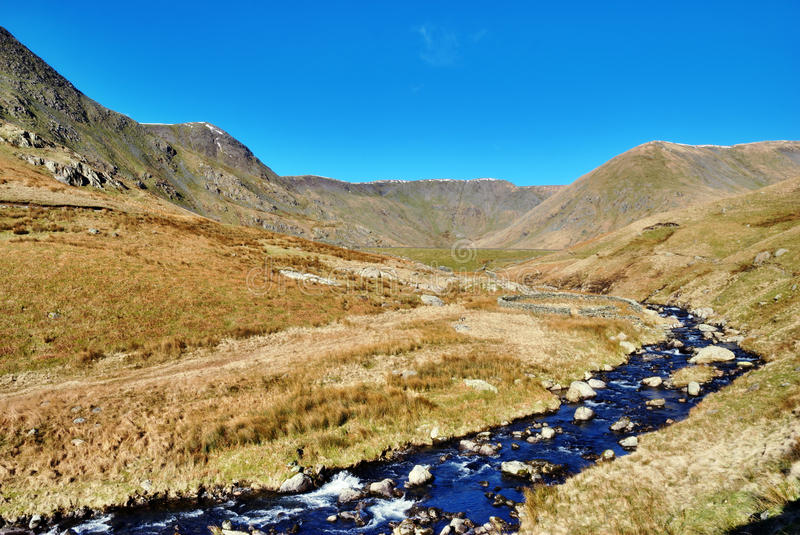River Kent Flowing Through Valley Stock Photography