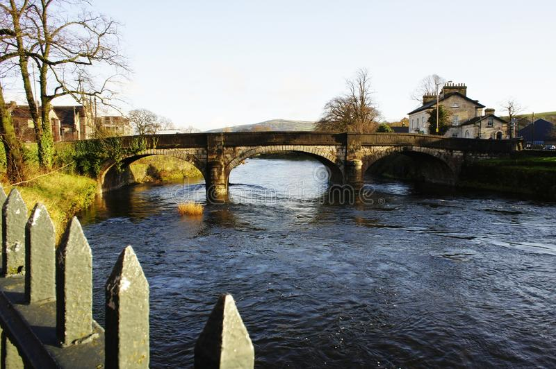 River Kent Miller Bridge in Kendal royalty free stock photography