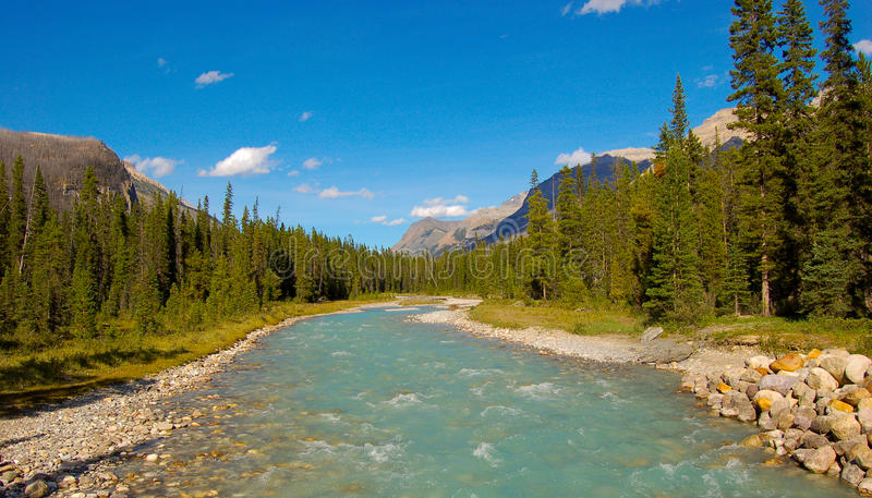 Download River in Kootenay stock photo. Image of park, cloud, national - 11085946