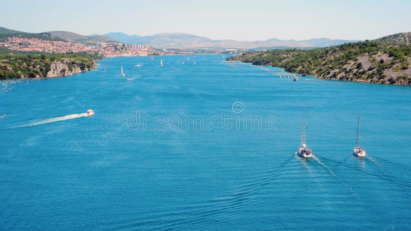 River Krka, Croatia. royalty free stock images