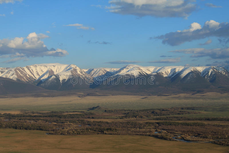 River in the Kurai steppe stock photos
