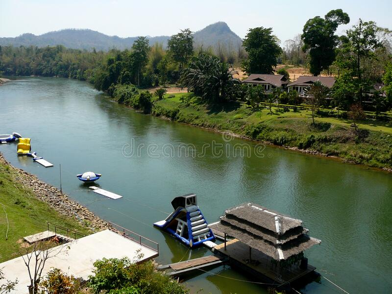 The River Kwai in Western Thailand royalty free stock images