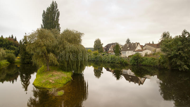 River La Cere and Bretenoux France royalty free stock photography