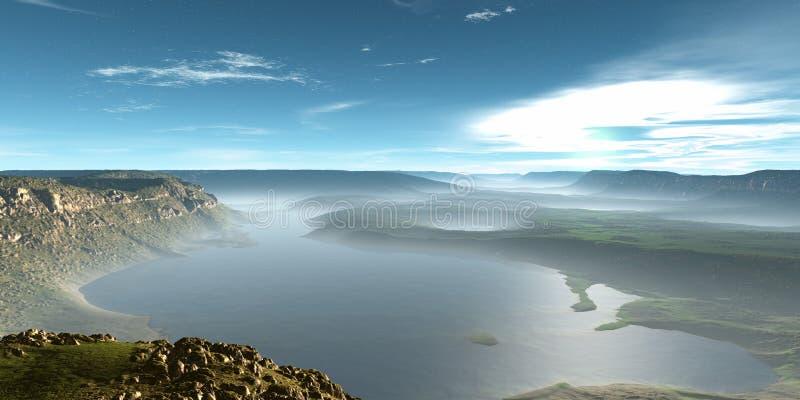 Download River landscape stock illustration. Image of background - 1040532