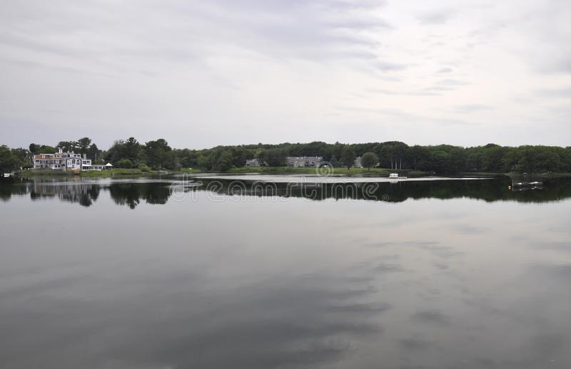 River Landscape from Kennebunkport in Maine state of USA. On 30th June 2017 stock image