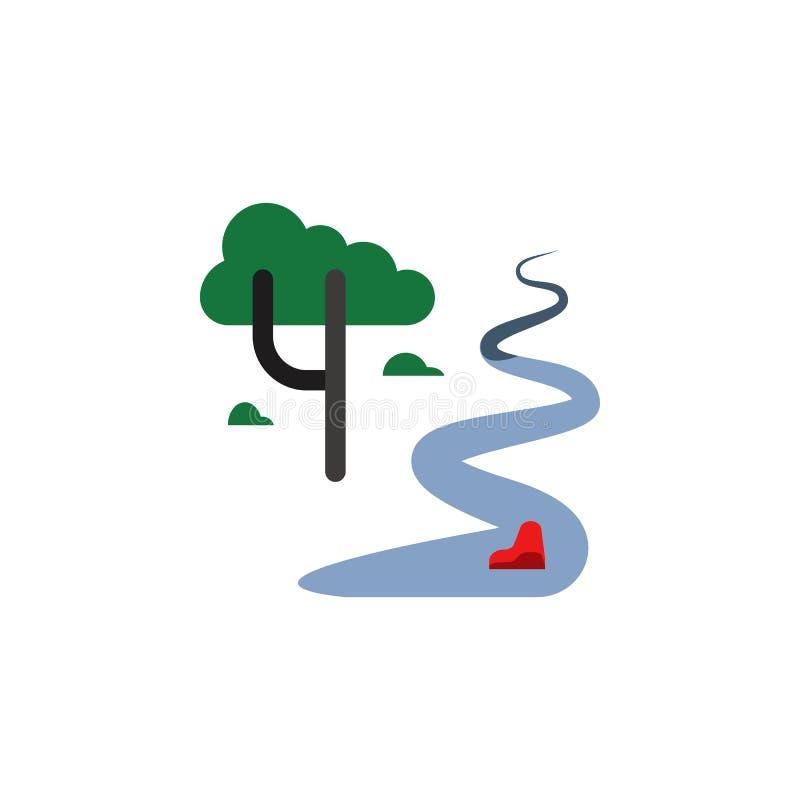 River, landscape, tree icon. Element of color African safari icon. Premium quality graphic design icon. Signs and symbols royalty free illustration