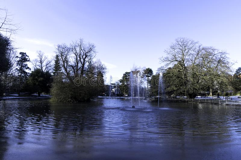 River Leam - Pump Room / Jephson Gardens, Royal Leamington Spa stock image