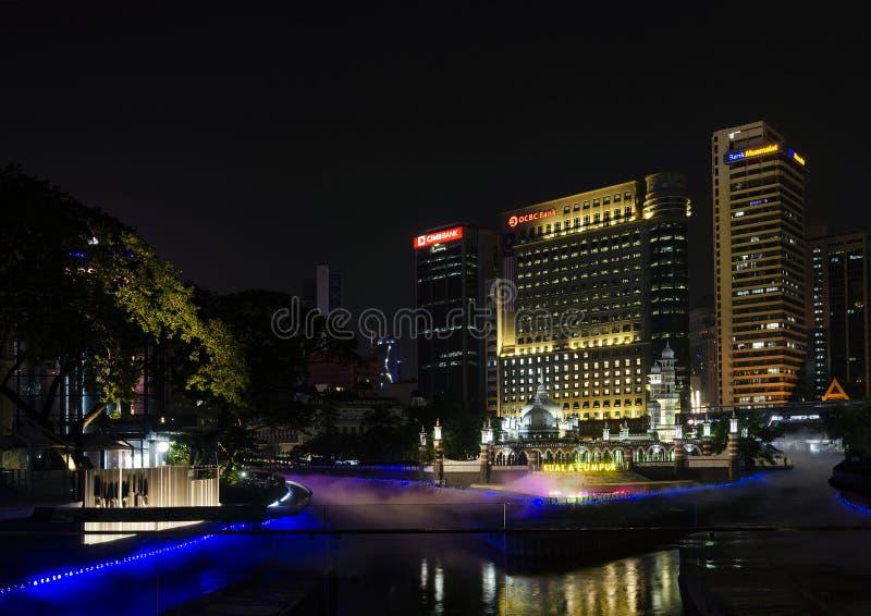 River of Life and Jamek Mosque landmark Kuala Lumpur Malaysia stock photos