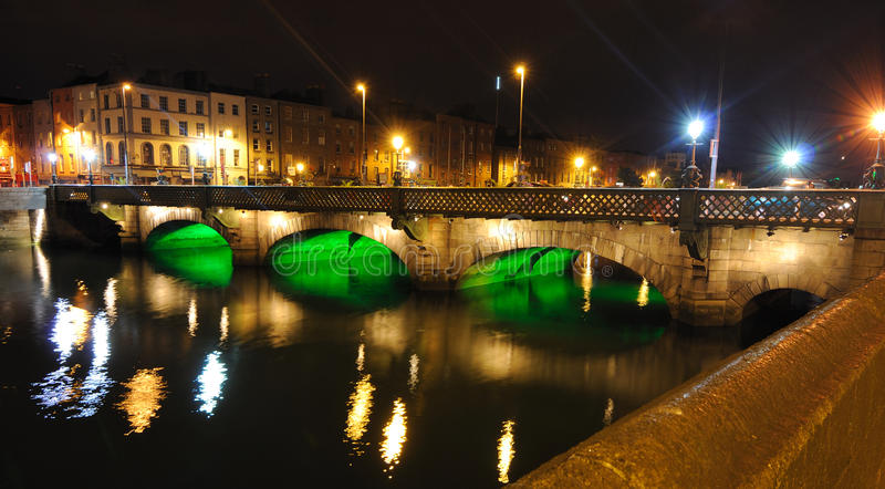 River Liffey. The Grattan Bridge over the River Liffey in Dublin, Ireland royalty free stock photo