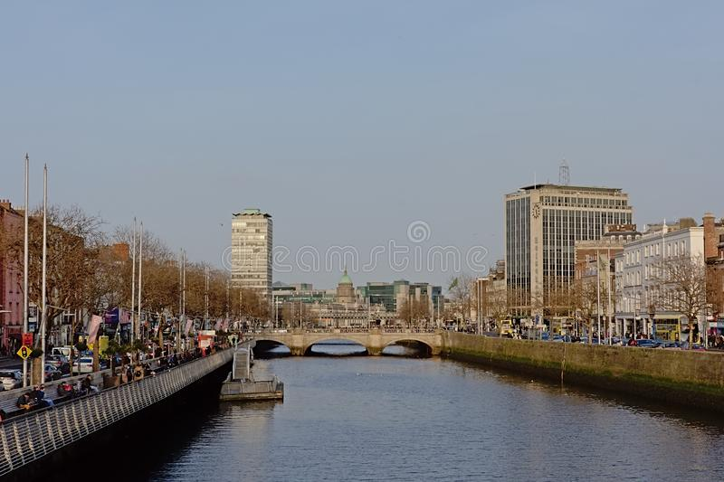 River Liffey in Dublin, Ireland royalty free stock images
