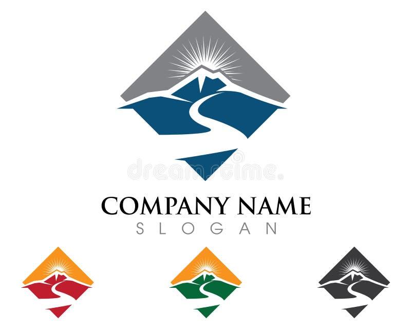 River Logo Template vector illustration