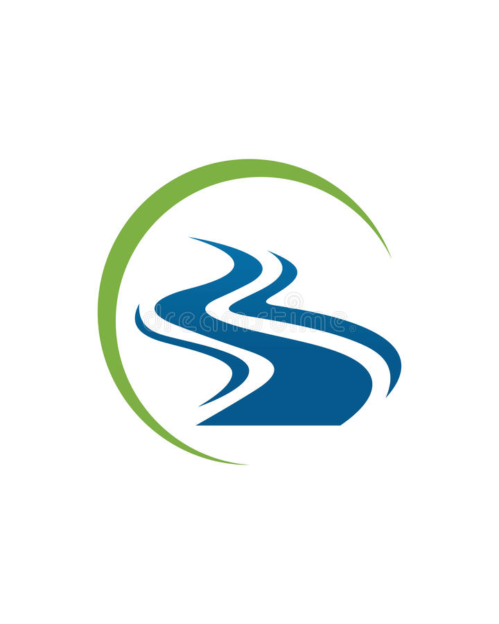 River Logo Template Vector royalty free illustration