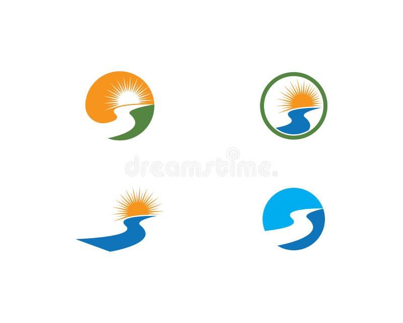 River Logo Template royalty free illustration