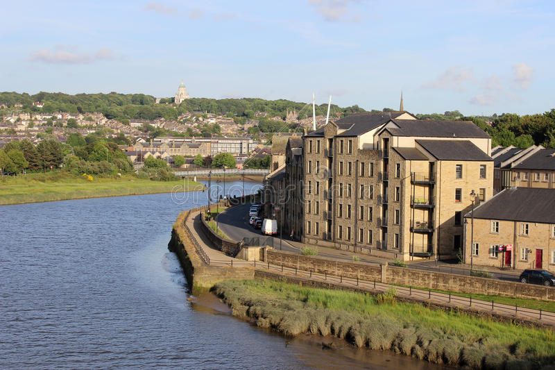 River Lune and St Georges Quay Lancaster England royalty free stock photos