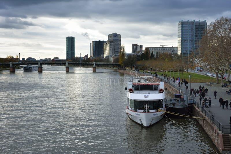 Download River Main in Frankfurt editorial image. Image of transport - 38155695