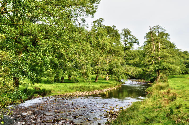 Download River Meandering Though Lush English Countryside Stock Image - Image: 27384971