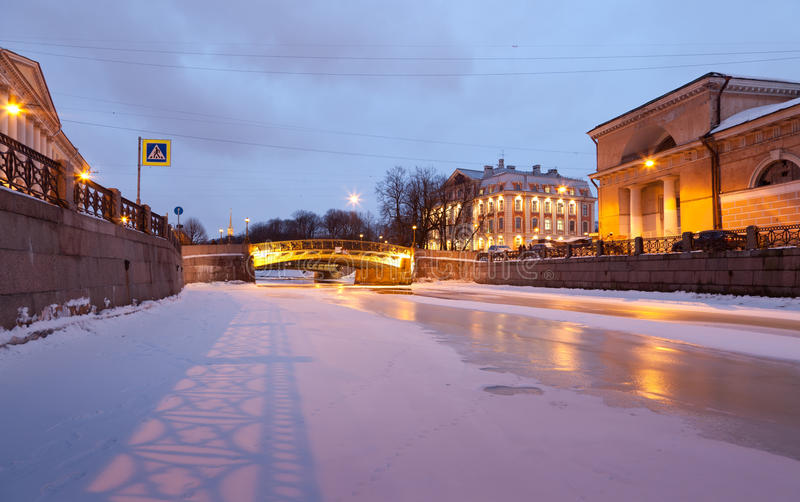 River Moika In St Petersburg Stock Photos