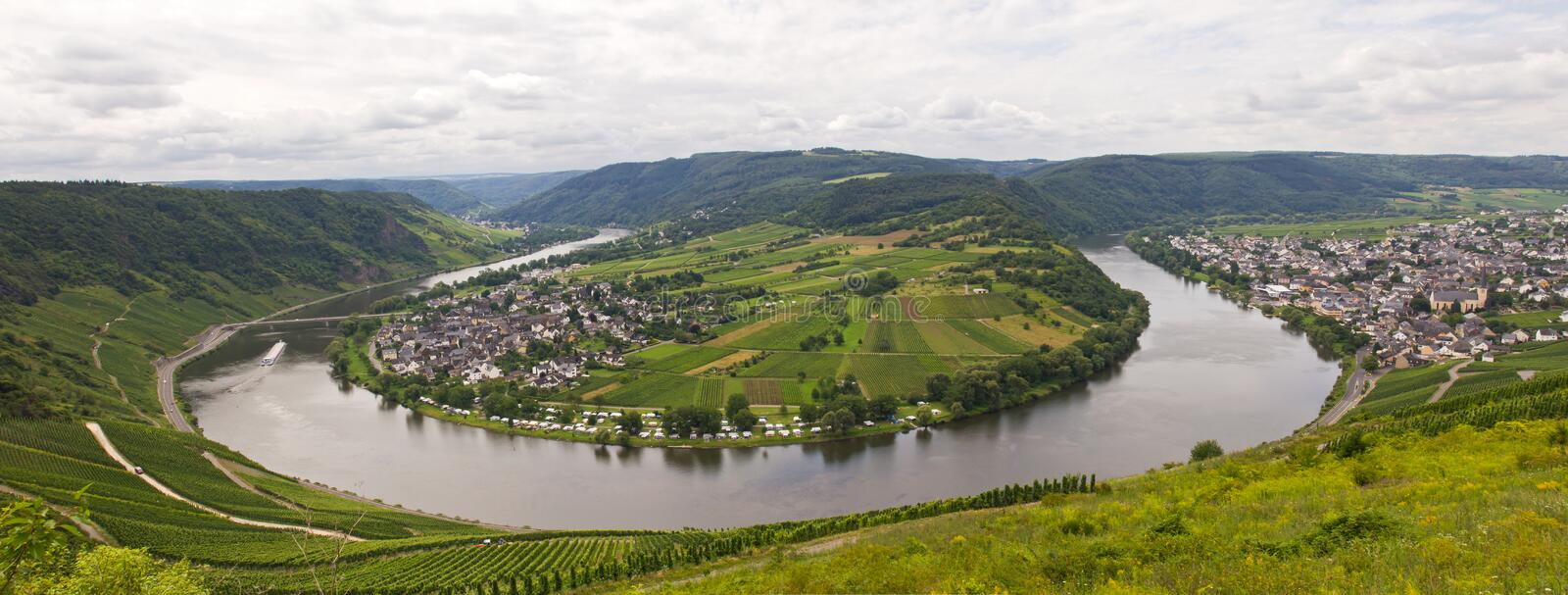 River mosel in bremm. Germany stock image