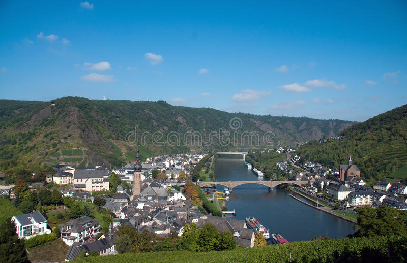 River Mosel. At the german city Cochem stock photo