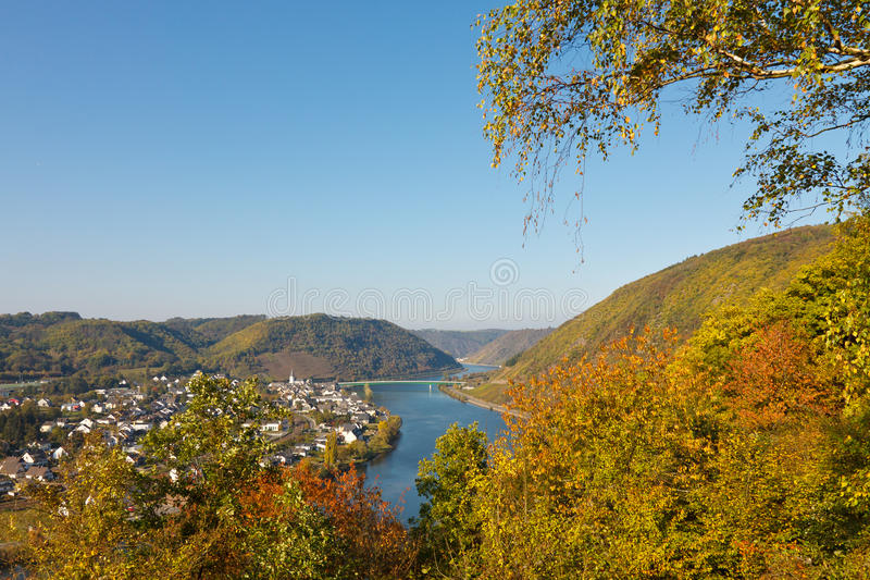 River Moselle (Mosel). In Germany on a beautiful autumn day stock image