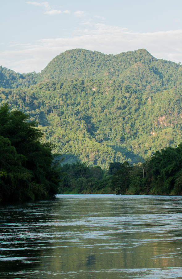 River with mountain stock photography