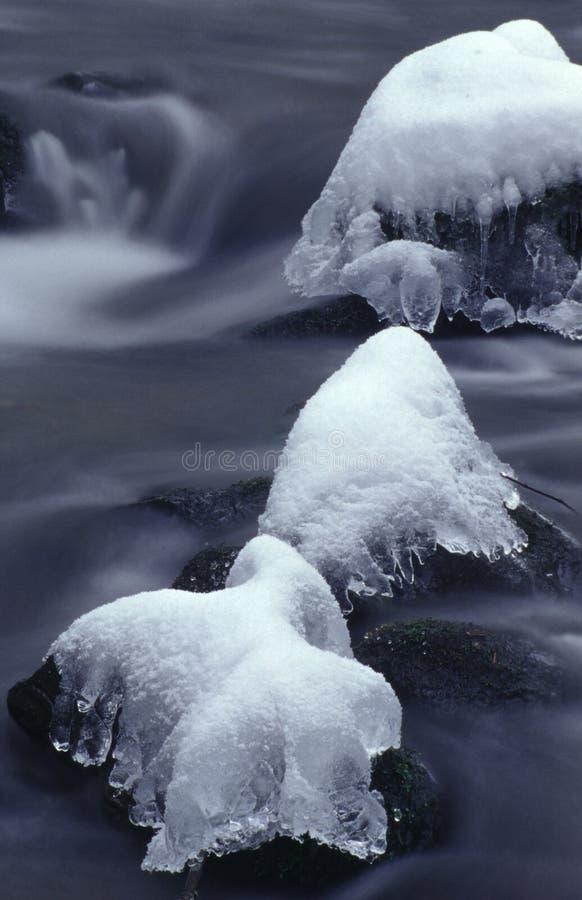 river mountain zimy. zdjęcie royalty free