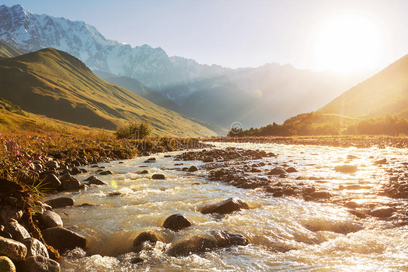 River in mountains royalty free stock photography