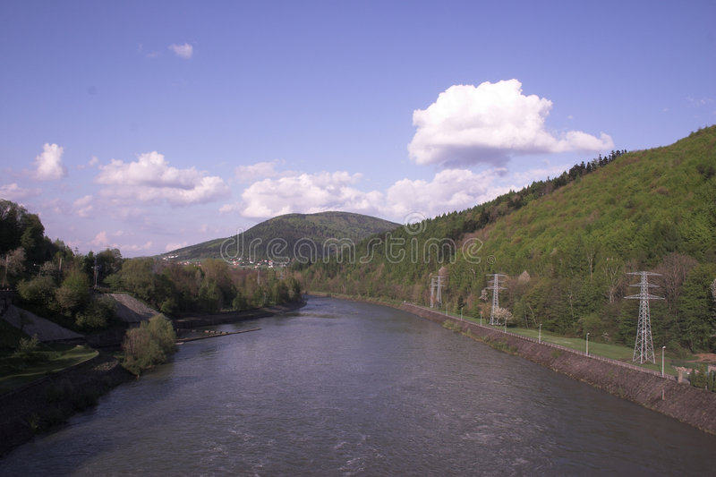 River at mountains stock photography