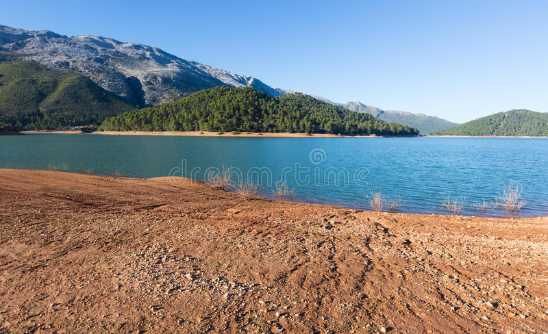 River in mountains. Guadalquivir. River, Andalusia, Spain royalty free stock photo
