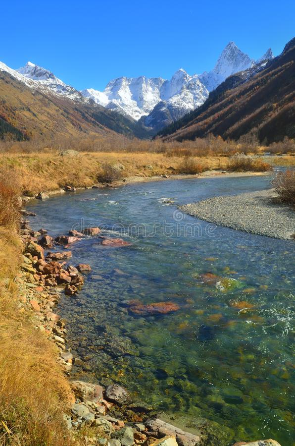 River In Mountains Royalty Free Stock Images