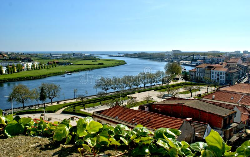 River mouth in Vila do Conde. Portugal stock images