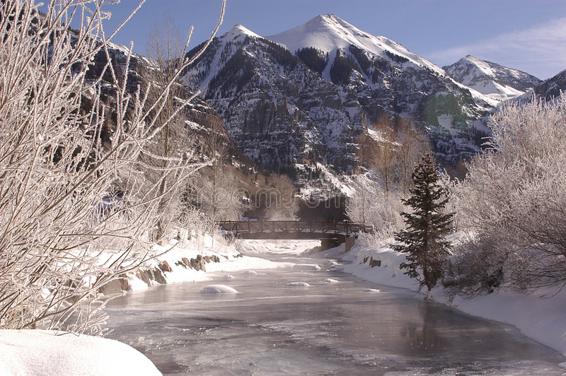 river, mrożone fotografia royalty free